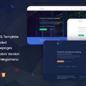 دانلود قالب هاستینگ Bluerack نسخه HTML و WHMCS