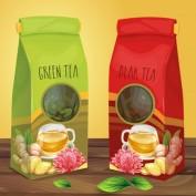 دانلود طرح لایه باز کاغذ بسته بندی چای