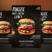 دانلود طرح لایه باز تراکت همبرگر قابل ویرایش در فتوشاپ