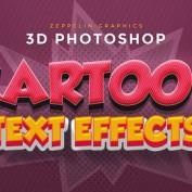 دانلود 10 فایل لایه باز افکت و متن های کارتونی سه بعدی