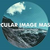 قاب عکس دایره ای با افکت های متنوع طراحی شده به صورت شیپ