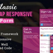 اسکریپت فرم های آماده واکنش گرا و بوت استرپ Classic