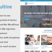 اسکریپت راه اندازی سایت خدمات مالی و مشاوره Consultine