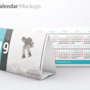 دانلود مجموعه 6 طرح موکاپ تقویم رومیزی به صورت لایه باز