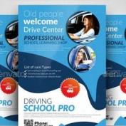 دانلود طرح لایه باز تراکت تبلیغاتی آموزشگاه رانندگی