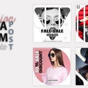 10 طرح لایه باز و قالب آماده فشن ، مد و لباس اینستاگرام برای فتوشاپ