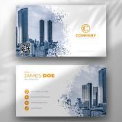 طرح لایه باز کارت ویزیت فلت شرکتی