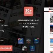 قالب وبلاگ و مجله وردپرس Flow News
