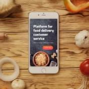 دانلود پروژه آماده افتر افکت نمایش لوگو اپلیکیشن غذا Food App Logo Reveal