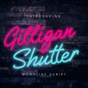 دانلود فونت جذاب Gilligan Shutter