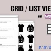 افزونه نمایش محصولات ووکامرس به صورت لیستی و شبکه ای Grid/List View for WooCommerce