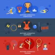 دانلود طرح وکتور لایه باز مسابقات ژیمناستیک