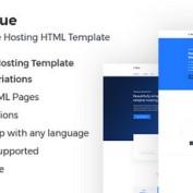 دانلود قالب هاستینگ HostBlue به صورت HTML