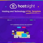 قالب HTML تکنولوژی و میزبانی وب HostSite