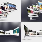 دانلود فایل لایه باز موکاپ صفحه نمایش iMac
