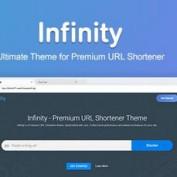 دانلود قالب حرفه ای Infinity برای اسکریپت Premium URL Shortener