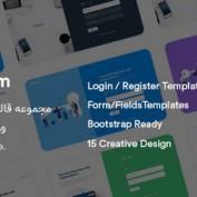 مجموعه قالب های آماده ورود و عضویت Iofrm به صورت HTML