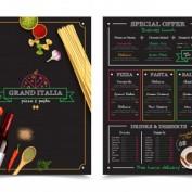 دانلود طرح لایه باز منوی رستوران ایتالیایی