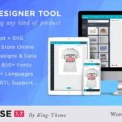 افزونه طراحی آنلاین محصول ووکامرس Lumise Product Designer