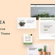 پوسته فروشگاه گل و گیاه Lustria برای ووکامرس