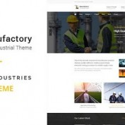 پوسته شرکتی و چندمنظوره Manufactory برای وردپرس