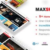 دانلود پوسته فروشگاهی و چندمنظوره Maxshop برای وردپرس