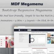افزونه مگامنوی حرفه ای وردپرس MDF Megamenu