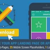 دانلود پروژه آماده افتر افکت ارائه لندینگ پیج اپلیکیشن Mobile App Landing Page Promo