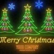 ویدئو آماده Premiere تبریک کریسمس با طرح نئونی لایت Neon Light Christmas