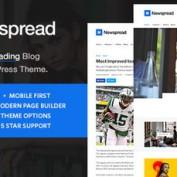 دانلود قالب مجله خبری و تفریحی Newspread برای وردپرس