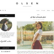 دانلود قالب وردپرس شخصی Olsen Light فارسی