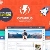 دانلود قالب HTML شبکه اجتماعی Olympus