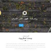 پوسته شرکتی وردپرس Optimizer فارسی
