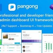 دانلود قالب HTML بخش مدیریت و رابط کاربری Pangong