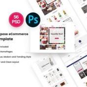 دانلود قالب PSD سایت فروشگاهی Pika