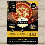 دانلود طرح لایه باز تراکت فروش پیتزا