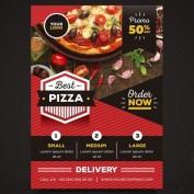 دانلود طرح لایه باز تراکت تبلیغاتی پیتزا فروشی