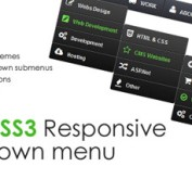 اسکریپت منوی زیبای Pure CSS3 Drop down Menu