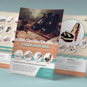 دانلود طرح لایه باز تراکت تبلیغاتی کفش در دو سایز A4 , Letter