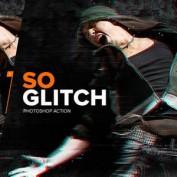 دانلود اکشن افکت گلیچ فتوشاپ SoGlitch