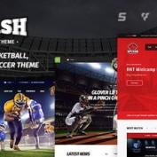 قالب ورزشی و فوتبال Splash Sport برای وردپرس