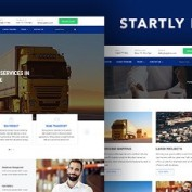 قالب HTML خدمات حمل و نقل Start.ly