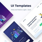 دانلود مجموعه وکتور قالب UI وب و موبایل Startup & New Business Mobile
