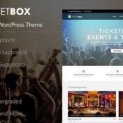 دانلود قالب فروش آنلاین بلیط TicketBox برای وردپرس