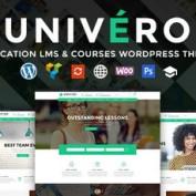 دانلود قالب ایجاد وب سایت آموزش آنلاین Univero برای وردپرس