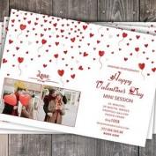 طرح لایه باز و قالب آماده کارت تبریک روز ولنتاین