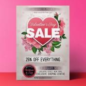 طرح لایه باز تراکت فروش ویژه ولنتاین به همراه بنر اینستاگرام و فیس بوک