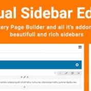 ایجاد سایدبار حرفه ای در صفحه ساز WPBakery با افزودنی Visual Sidebar Editor