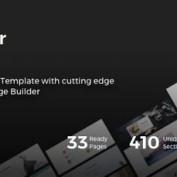 دانلود قالب HTML چندمنظوره Weber به همراه صفحه ساز