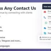 افزونه ایجاد ویجت تماس با ما در وردپرس WordPress Any Contact Us